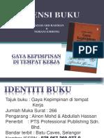 Resensi Buku Radziah - Norani 2014