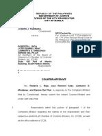 Counter-Affidavit Tabirara v. Riga Et Al. EDITED WITH PRAYER