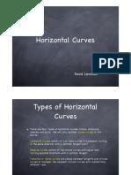 Horizontal Curve - Design brief