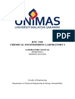 KNC 1101 Chemical Engineering Laboratory I Experiment Manual (1)