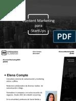 Masterclass IM - Content Marketing Para Startups impartida por Elena Compte