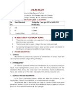 Aniline Process Description