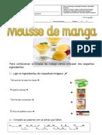 Ficha de Português e Matemática Funcional - Mousse de Manga