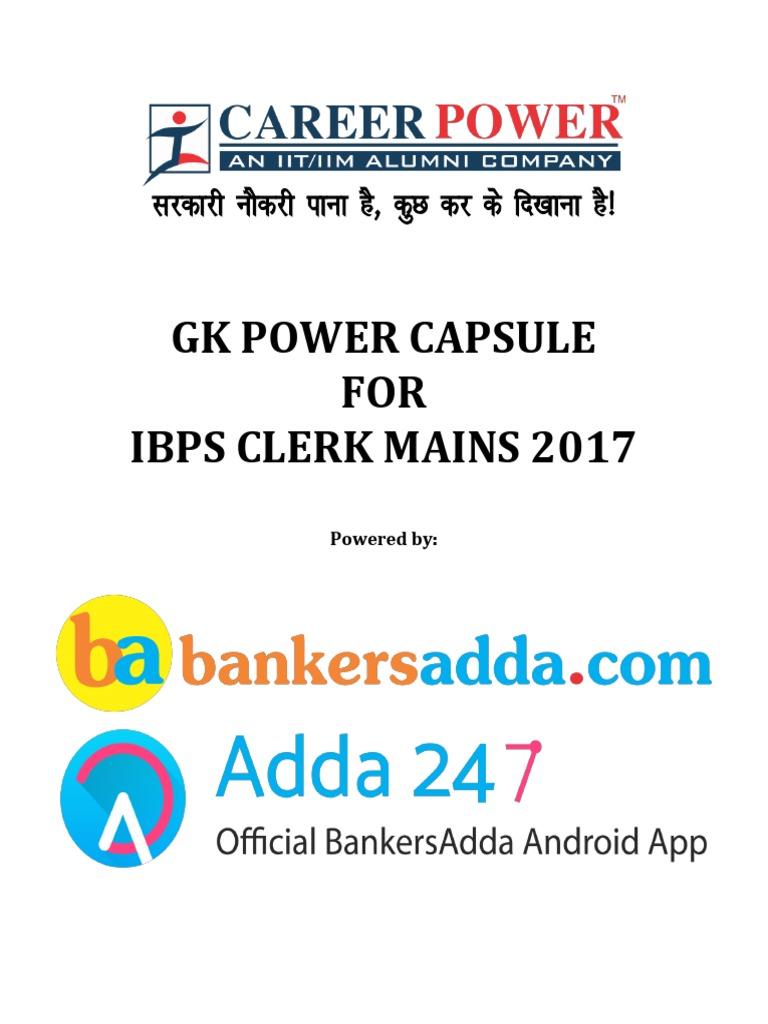 2015 gk bankers adda capsule pdf august