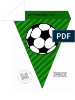 Banderilla Marco Fútbol Comunión