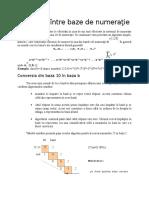 Lectia 7. Algoritmi Fundamentali - Conversii Intre Baze de Numeratie
