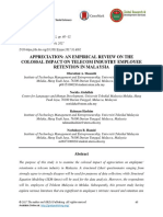 Appreciation- An Empirical Review on the Colossal Impact on Telecom Industry Employee Retention in Malaysia
