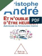 Christophe André - Et n'Oublie Pas d'Être Heureux