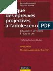 Pratique Des Epreuves Projectives a l'Adolescence-Dunod
