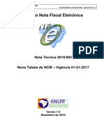 NT2016 003 V1.0 - Nova Tabela de NCM - Resolução Camex Nº 125-16