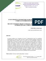 Marchelli - O novo projeto universitário no Brasil e o foco no curriculum interdisciplinar