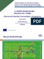 Politika Zastite Konkurencije - Iskustvo EU i Srbije 06.05.15