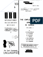 XEmployment of Armor in Korea, Vol 1, Operations Research Study