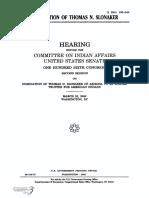 SENATE HEARING, 106TH CONGRESS - NOMINATION OF THOMAS N. SLONAKER