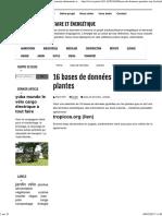 16 Bases de Données Gratuites Sur Les Plantes _ Autonomie Alimentaire Et Énergétique