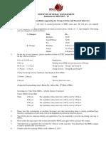 Instructions for Candidates GA-PI