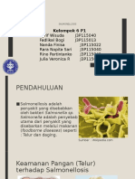 Presentasi Higiene Pangan ( Salmonellosis )