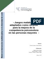 Juegos Malabares Adaptados Como Recurso Para La Mejora de La Competencia Psicomotora en Las Personas Mayores