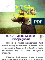 R.P. a Typical Case of Prosopagnosia