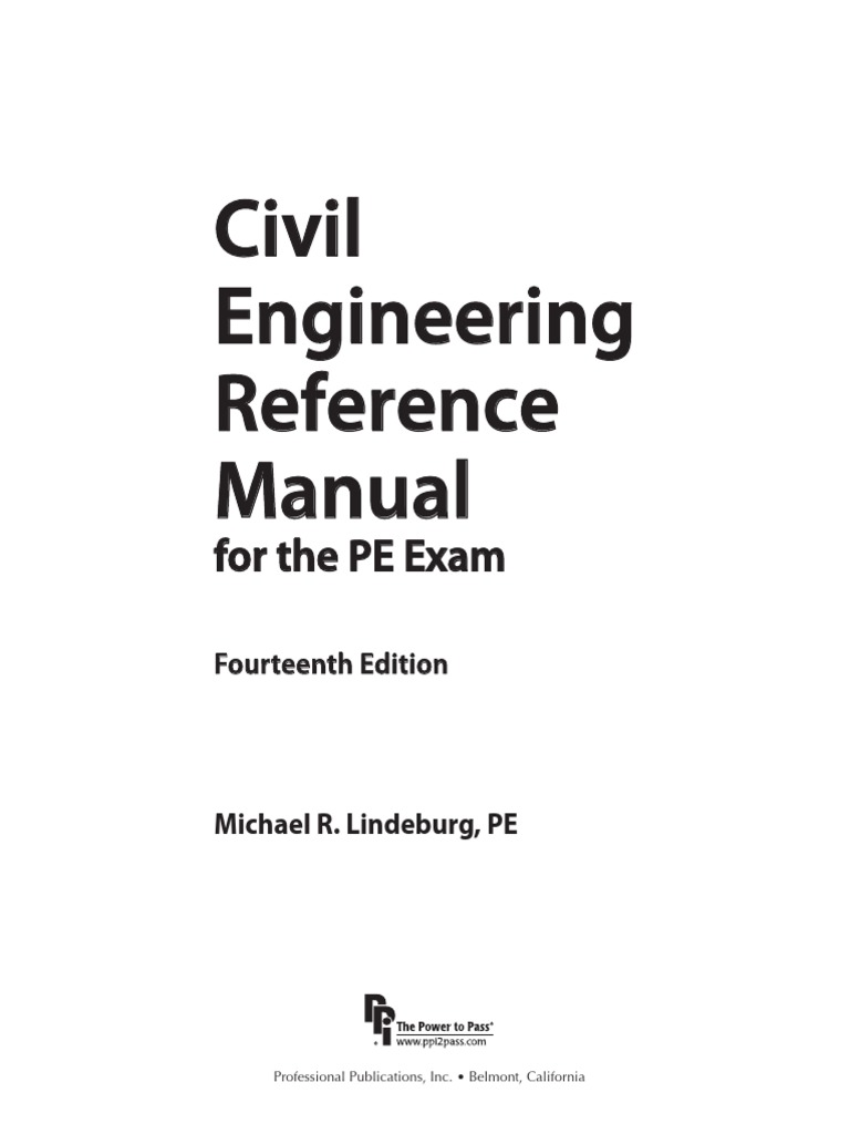 Civil Engineering Reference Manual.pdf | Reinforced Concrete | Structural  Analysis