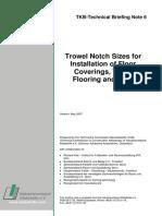 Trowel Notch Sizes