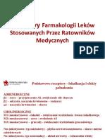 Podstawy Farmakologii Lekow Stosowanych Przez Ratownikow Medycznych