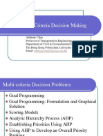 CSE422 Multi Criteria Decision Making