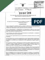 Decreto Unico Reglamentario Sector Ambiental 1076 Mayo 2015