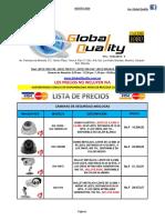 Lista de Precios Cctv. Global Quality (Agosto 2016)