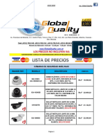Lista de Precios Cctv. Global Quality (Julio 2016)