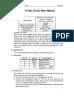 MQ 135 Gas Sensor UserManual
