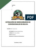 Extraccion de Hidrocarburos No Convencionales en Bolivia