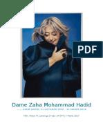 Dame Zaha Mohammad Hadid