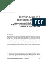 Fabián Donoso Sepúlveda - Memoria labor e identidad docente.