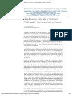 Cuadros Ricardo - Periodización Literaria y Contexto Histórico (1) Aproximación Preliminar – Critica