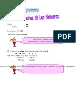Ficha Informativa - Leitura de Números