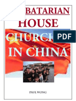 Sabbatarian House Churches in China