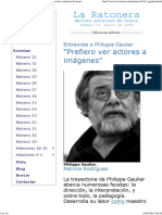 Entrevista a Philippe Gaulier. LA RATONERA, Revista Asturiana de Teatro