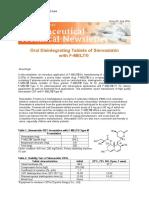22 Oral Disintegrating Tablets of Simvastatin With F-MELT JUN2011