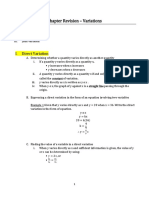 Chapter Revision - Variation