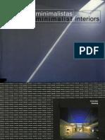 Interiores Minimalistas - Minimalist Interiors - ArquiLibros - AL