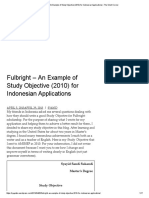 Fulbright – an Example of Study Objective (2010) for Indonesian Applications _ the Silent Corner