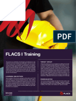 FLACS I Training Course Agenda