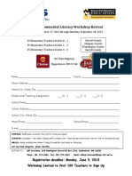 k-5 workshop retreat registration form tlv