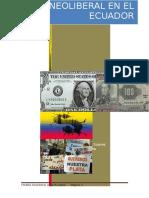 ECUADOR Modelo Neoliberal