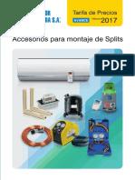 Accesorios Splits Tarifa PVP SalvadorEscoda (1)
