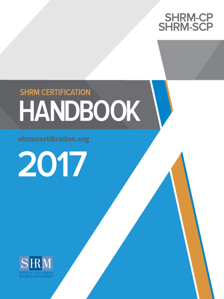 Shrm Certification Human Resource Management Competence Human