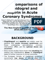 Dose Comparisons of Clopidogrel and Aspirin in Acute Coronary Syndrome