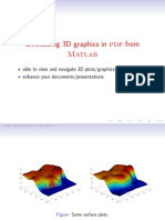 PDF and  3D interactive graphics