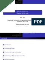 Duration Models Uni